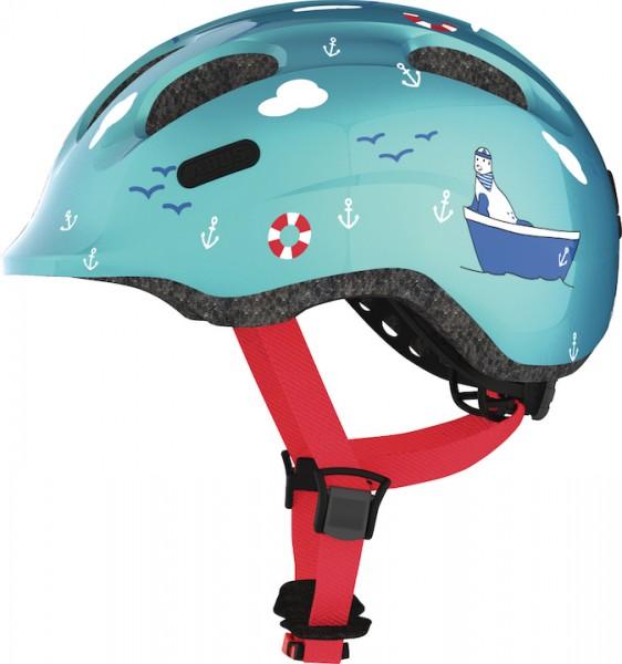 ABUS Kinderhelm Smiley 2.0 Größe: S | Kopfumfang: 45 - 50 cm | turquoise sailor