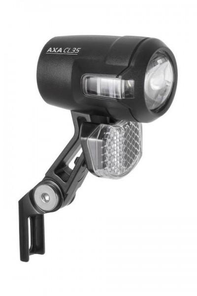 AXA E-Bike LED Scheinwerfer Compactline 35 inkl. Anschlusskabel (10cm) | schwarz | An-/Ausschalter: