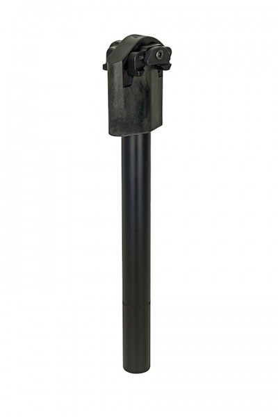 AIRWINGS Federsattelstütze Comfort 1 Plus schwarz |Länge: 320 mm | Durchmesser: 25,4 mm | Max. Belas