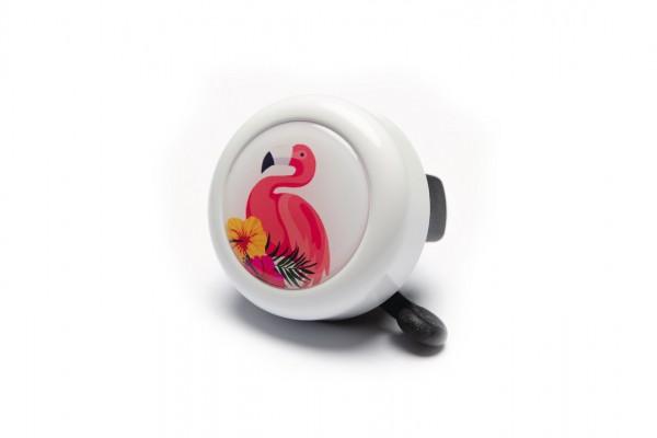 "REICH Fahrradklingel Motiv ""Flamingo"" weiß | Lenkerdurchmesser: 22,2 mm"