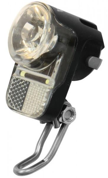 AXA Dynamo-Scheinwerfer Pico 30 Switch inkl. Halter   Befestigung: Gabelbrücke   schwarz   Doppelkon