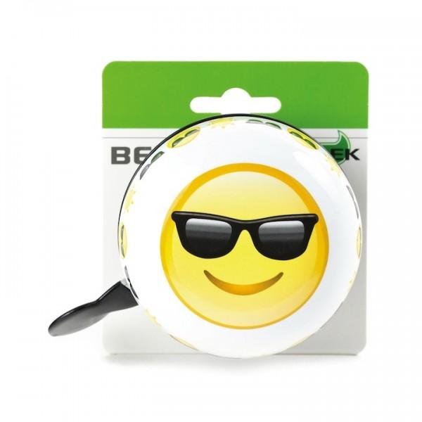 WIDEK Ding-Dong Glocke Sunglasses weiß / gelb | Motiv: Emoji | Durchmesser: 80 mm