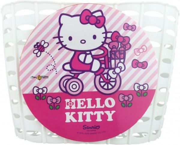 BIKE FASHION Kunststoff-Kinderkorb Hello Kitty Befestigung: Schlaufen zur Lenkermontage   weiß