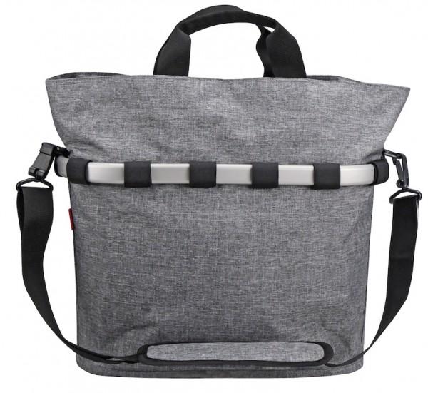 REISENTHEL Gepäckträgertasche Oval M Befestigung: KlickFix | twist silver | Für Gepäckträger mit 6 -