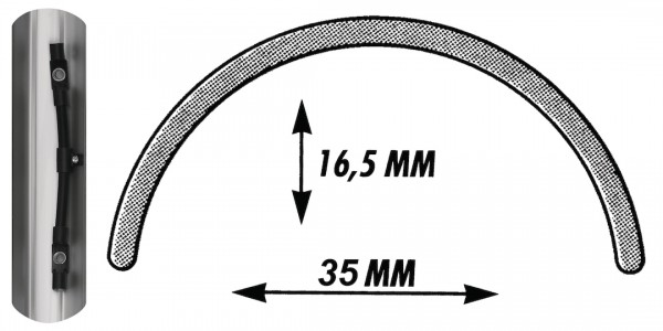 SKS Schutzblech Bluemels schwarz | Laufradgröße: 27 / 28 Zoll | Schutzblechbreite: 35 mm