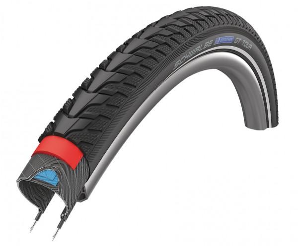 Schwalbe Fahrradreifen Marathon GT Tour HS 485 schwarz Reflex 40-622 28x1.50 700x38C 11101289 Draht