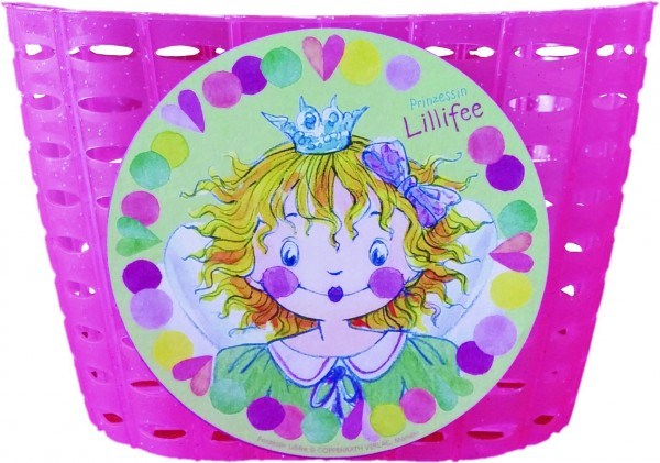 BIKE FASHION Kunststoff-Kinderkorb Lillifee Befestigung: Schlaufen zur Lenkermontage | pink