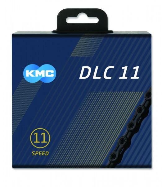 KMC Fahrrad Kette DLC11 Kompatibilität: 11-fach   SB-Verpackung   schwarz   118 Glieder