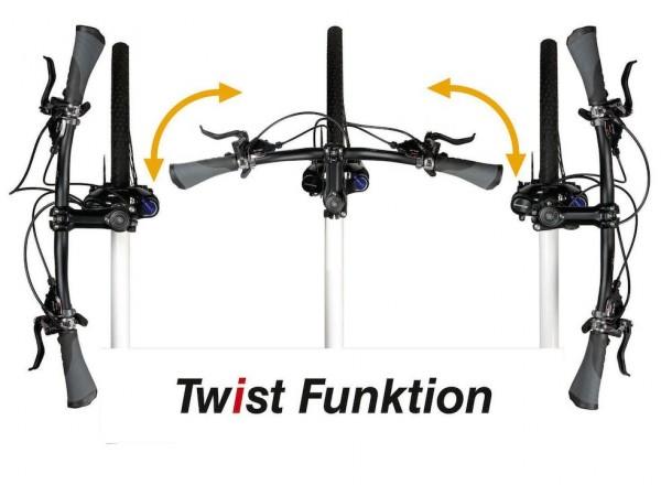 BY.SCHULZ Ahead-Vorbau Twist SDS Auslage: 90 mm | SB-Verpackung | schwarz-matt
