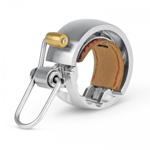 KNOG Glocke Oi Luxe Small silber | Lenkerdurchmesser: 22,2 mm