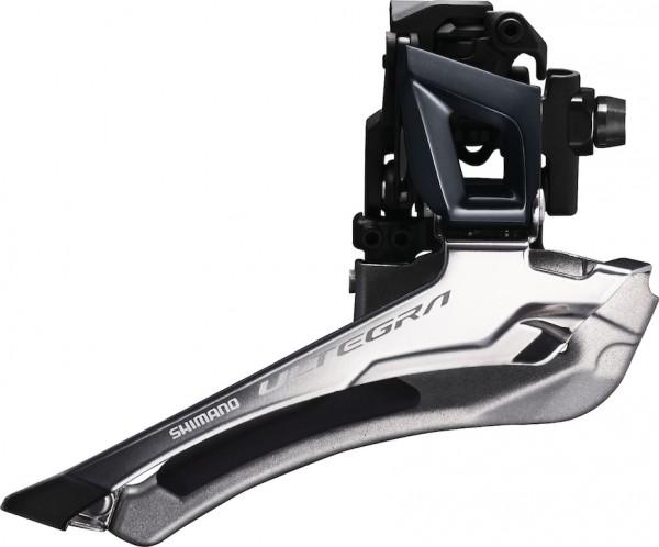 SHIMANO Umwerfer Ultegra FDR8000 silber   Schelle 31,8   Ausführung: 61-66 Grad   11-fach   Down Pul