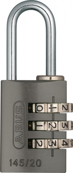ABUS Fahrradschloss Zahlenschloss 145/20 titanium Lock-Tag