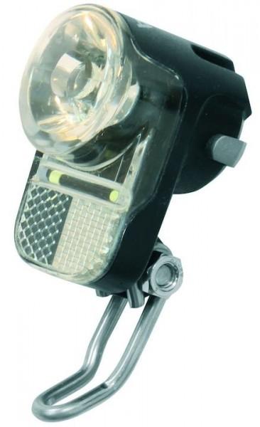AXA E-Bike LED Scheinwerfer Pico 30-E Switch inkl. Halter | Befestigung: Gabelbrücke | schwarz | An-