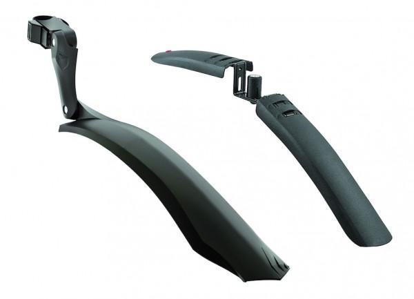 HEBIE Steckschutzblech Set Viper X schwarz | Laufradgröße: 26 - 29 Zoll | Schutzblechbreite: VR 56-7