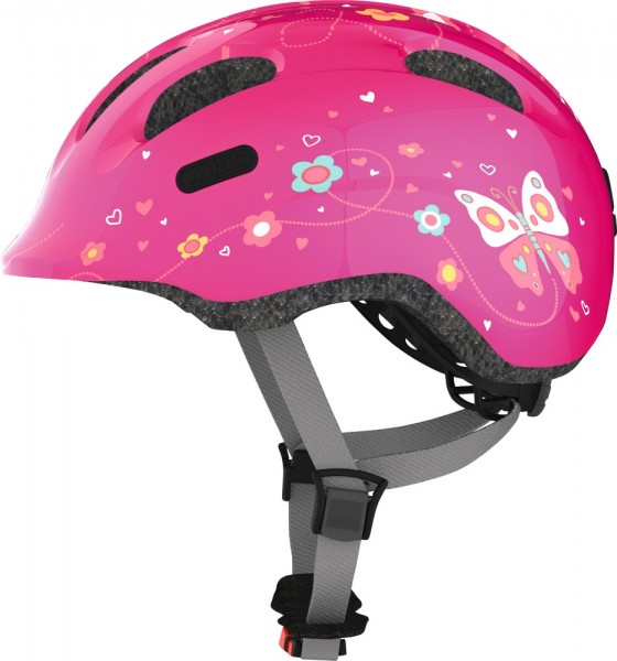 ABUS Fahrradhelm Smiley 2.0 pink butterfly S Kopfumfang [cm] 45-50