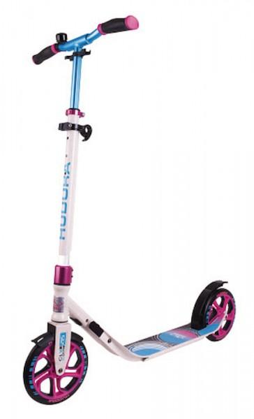 HUDORA Scooter CLVR 215 Farbe: weiß/blau/pink