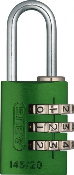 ABUS Fahrradschloss Zahlenschloss 145/20 grün B/DFNLI
