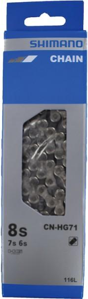 SHIMANO Fahrrad Kette SB-Verpackung CNHG71 | Kompatibilität: 6/7/8-fach | 116 Glieder | Verschluss: