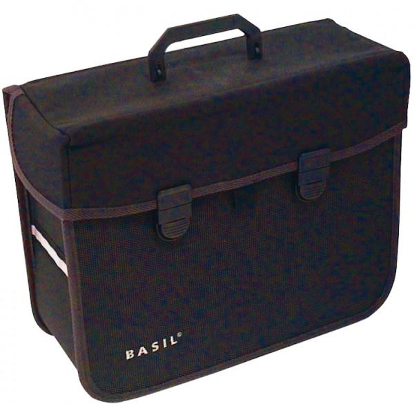 BASIL Einzeltasche Malaga Befestigung: Schnalle / Haken   schwarz
