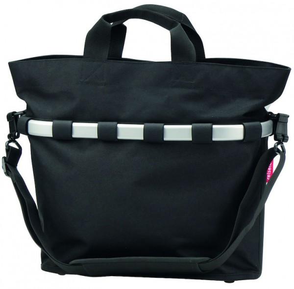 REISENTHEL Gepäckträgertasche Oval M Befestigung: Klickfix | schwarz