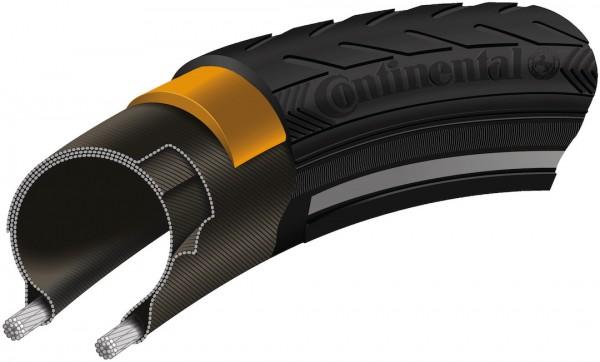 CONTINENTAL Fahrradreifen Ride Classic 28 Zoll | ETRTO: 40-635 | Draht | schwarz Reflex
