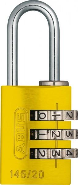 ABUS Fahrradschloss Zahlenschloss 145/20 gelb B/DFNLI