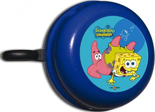 BIKE FASHION Kinder-Glocke SpongeBob blau | Motiv: SpongeBob | Durchmesser: 57 mm