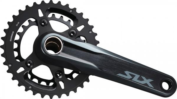 SHIMANO Kettenradgarnitur SLX FCM71002 Hollow. II schwarz | Kurbellänge: 175 mm | Für Lagerschalen B