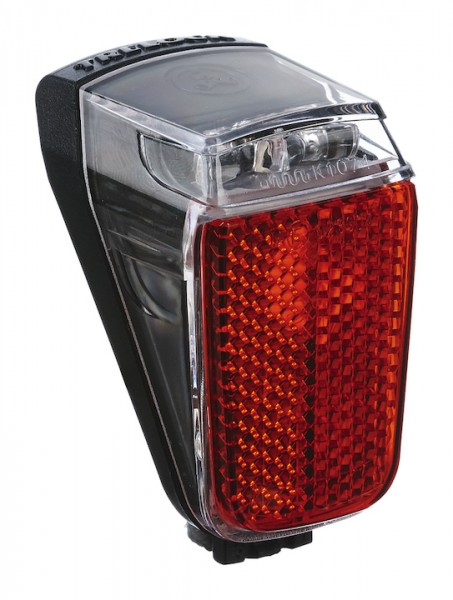 TRELOCK LED E-Bike Rücklicht Duo Top Befestigung: Schutzblech / Rahmenseitenstrebe | schwarz