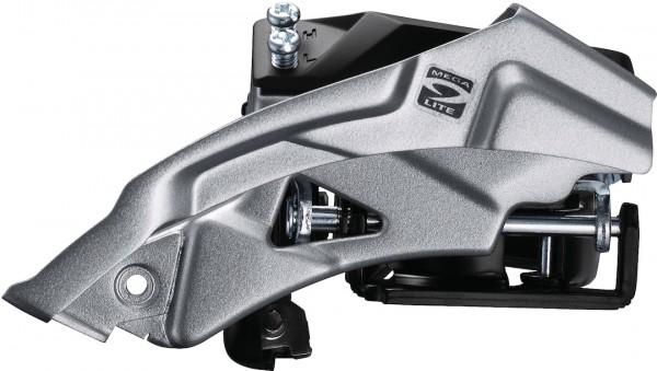 SHIMANO Umwerfer Altus FDM2000 silber | Top Swing Schelle | Ausführung: 66-69 Grad | 9-fach | Dual P