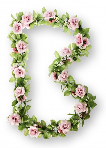 BASIL Blumengirlande Rosen pink
