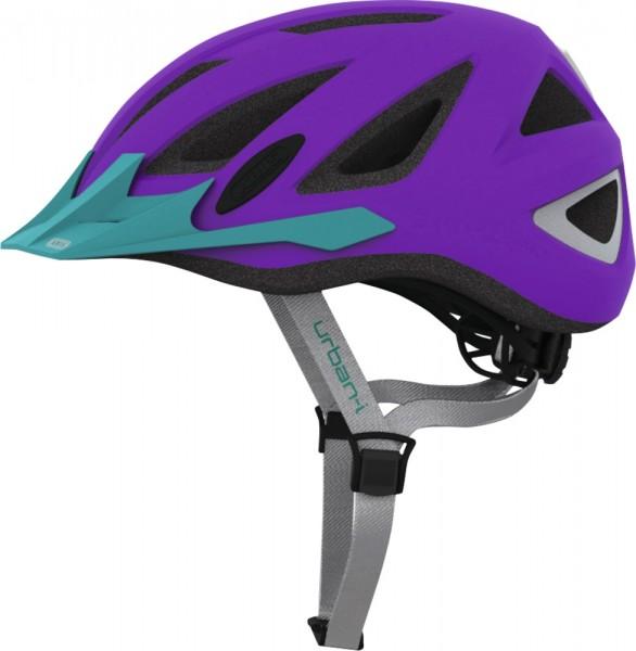 ABUS Fahrradhelm Urban-I 2.0 Neon neon purple M Kopfumfang [cm] 52-58