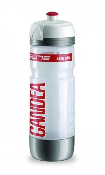 ELITE Trinkflasche Candea Light Inhalt: 650 ml   clear rot / silber