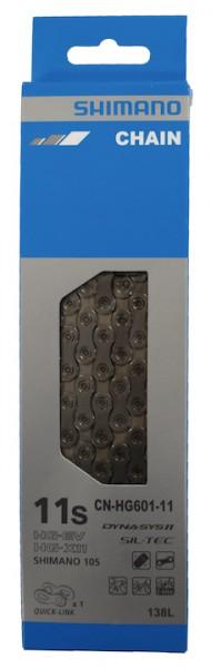 SHIMANO Fahrrad Kette CNHG601-11 Kompatibilität: 11-fach | SB-Verpackung | 138 Glieder