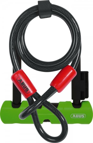 ABUS Fahrradschloss Ultra Mini 410/150HB140 SH34 + Cobra 10/120