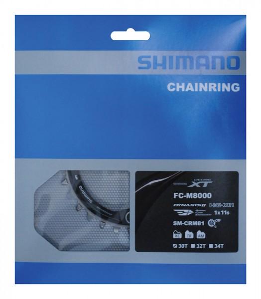 SHIMANO Kettenblatt Deore XT FCM8000 32 Zähne   schwarz   Lochkreis: 96 mm
