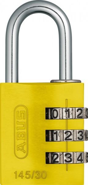 ABUS Fahrradschloss Zahlenschloss 145/30 gelb Lock-Tag