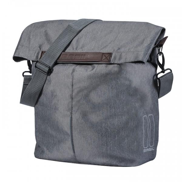 BASIL Einzeltasche City Shopper Befestigung: Hook-On System | grau melee