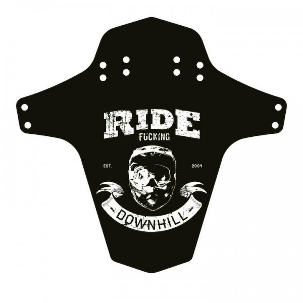 """REVERSE Spritzschutz """"Ride Fucking Downhill"""" schwarz / weiß"""