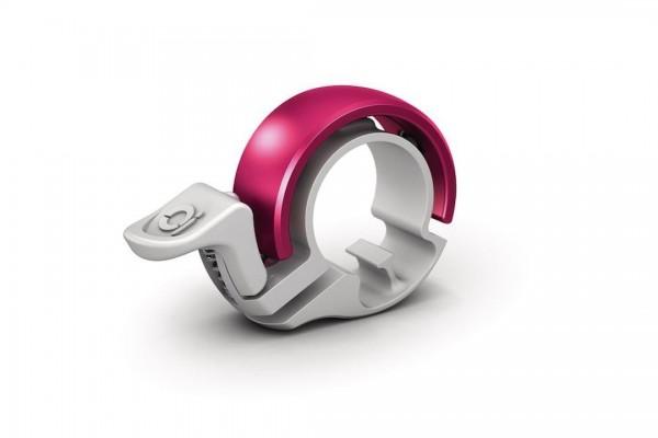 KNOG Glocke Oi Classic Small weiß / pink | Lenkerdurchmesser: 22,2 mm