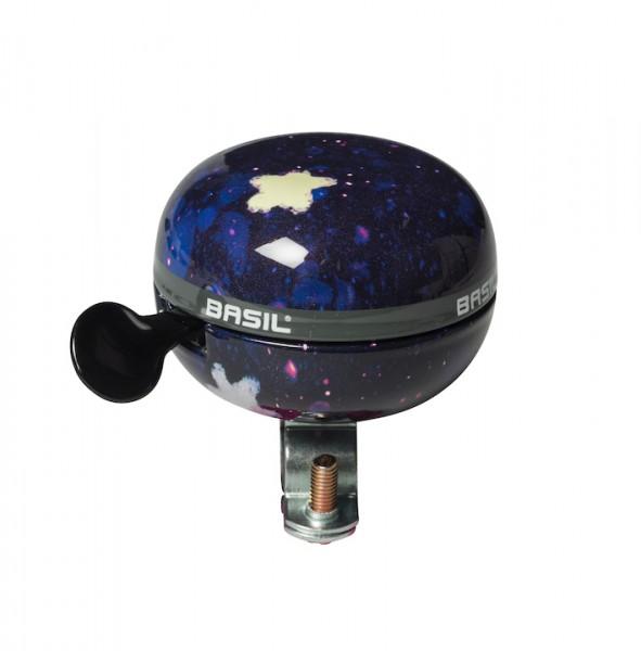 BASIL Kinder-Glocke Stardust blau /schwarz | Motiv: Sterne | Durchmesser: 60 mm