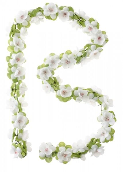 BASIL Blumengirlande weiß