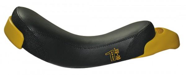 QU-AX Einradsattel Streetstyle schwarz mit gelbem Griff