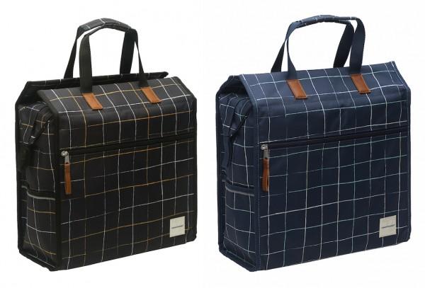 NEW LOOXS Einkaufstasche Lilly Check Befestigung: Haken   schwarz