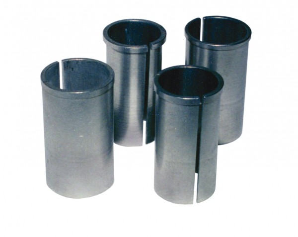 Kalibrierbuchse für 27,2 mm Sattelstütze Durchmesser: 28,6 mm | silber | Hülse: 1,4 mm