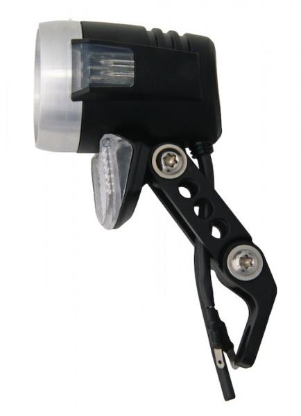 AXA E-Bike LED Scheinwerfer Blueline 50 Befestigung: Gabelkrone | schwarz | SB-Verpackung
