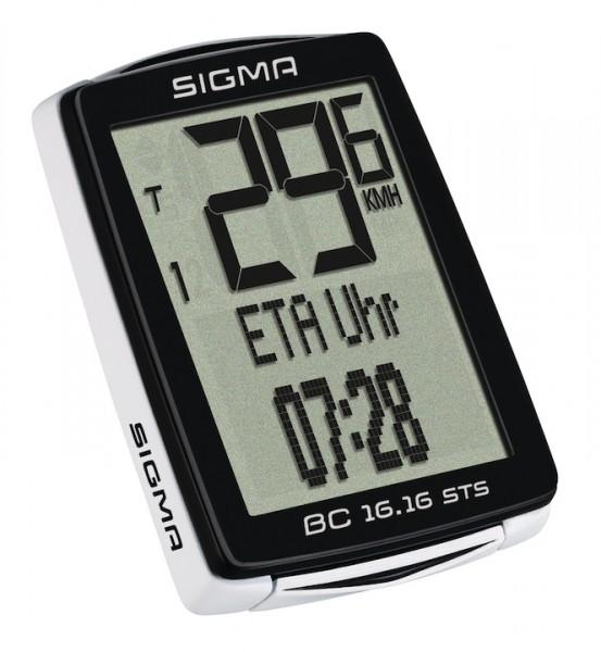 SIGMA Fahrradcomputer BC 16.16 STS CAD schwarz