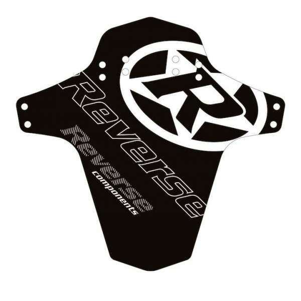 """REVERSE Spritzschutz """"Logo"""" schwarz / weiß"""