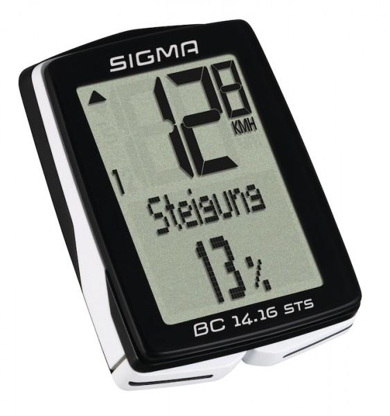SIGMA Fahrradcomputer BC 14.16 STS CAD schwarz