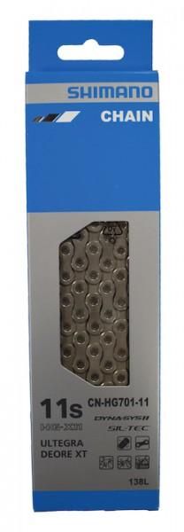 SHIMANO Fahrrad Kette CNHG701-11 Kompatibilität: 11-fach | SB-Verpackung | 138 Glieder | Verschluss: